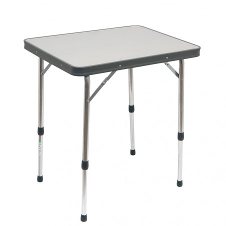 Crespo AL-250-G gris - Mesa rectangular doble 65 x 52 x (48-69)