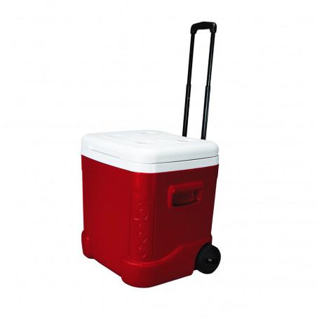 Nevera rígida con ruedas Igloo Coolers ICE CUBE 60 ROLLER - Roja