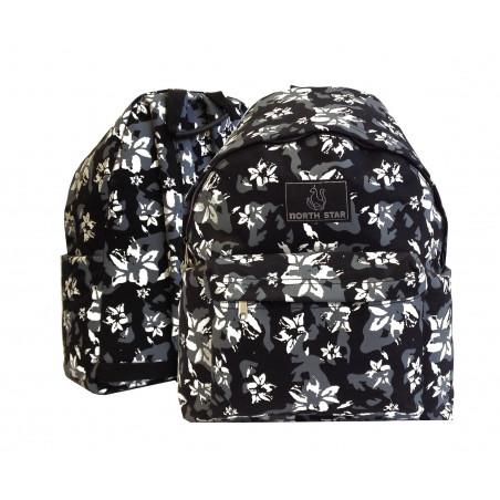 Mochila North Star Daypack Flores negra