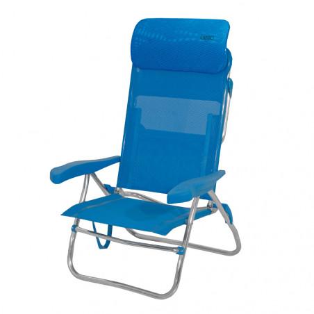 Crespo AL-223-C azul - Silla cama alta 7 posic. cabezal compact