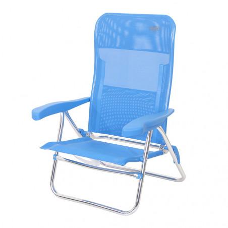 Silla de playa plegable Crespo MULTIFIBRA azul