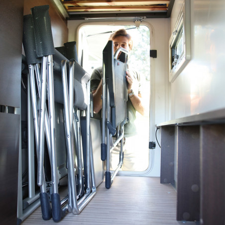 Silla plegable reclinable Crespo 5 POSICIONES - rayas