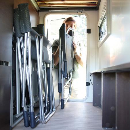 Silla plegable reclinable Crespo 5 POSICIONES - antracita