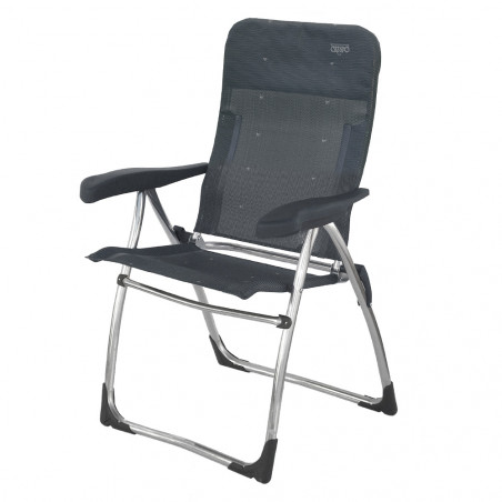 Silla plegable reclinable Crespo 5 POSICIONES - gris oscuro