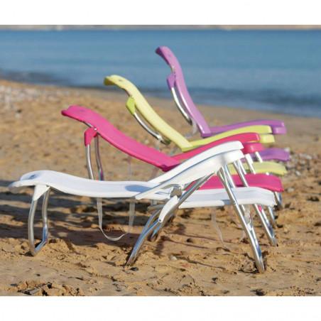 Silla tumbona de playa Crespo SILLA ALTA CAMA 7 POSICIONES