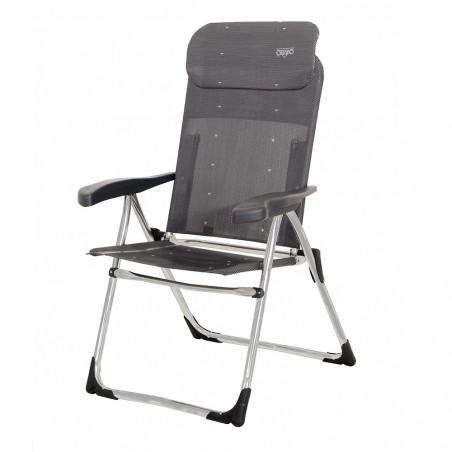 Crespo AL-213-C gris oscuro - Silla plegable reclinable 7 posiciones cabezal compact