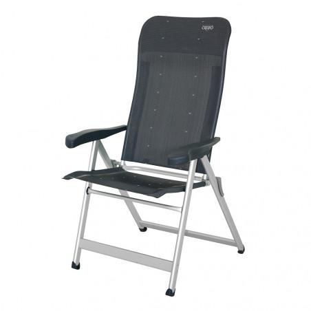 Silla plegable reclinable Crespo ALTA 7 POSICIONES REFORZADA - gris oscuro
