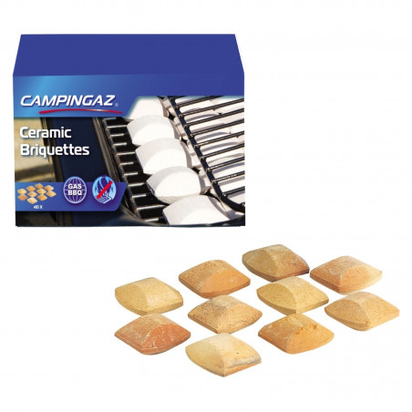 Briquetas CERAMICAS BBQ Campingaz reutilizables (40 unidades)