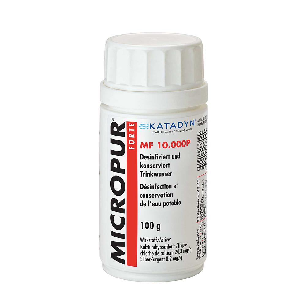 Polvos potabilizadores desinfectantes de agua Katadyn MICROPUR FORTE MF 10.000P