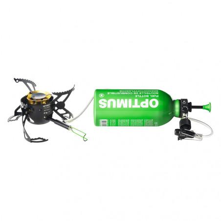 Hornillo híbrido para camping Optimus POLARIS OPTIFUEL + botelle de fuel 0,4L