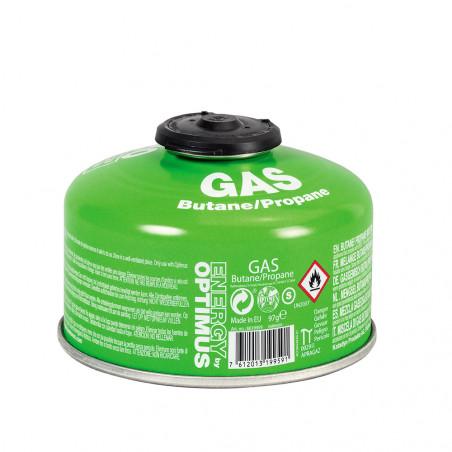 Cartucho de gas Optimus GAS 100G BUTANE/PROPANE con válvula