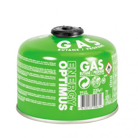 Cartucho de gas Optimus GAS 220G BUTANE/PROPANE con válvula