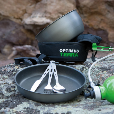 Set de cubiertos Optimus TITANIUM 3-PIECE CUTLERY SET
