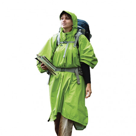 Poncho impermeable de lluvia Sea to Summit NYLON TARP - verde