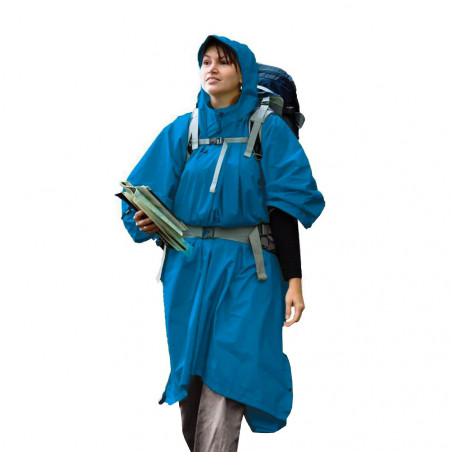 Sea to Summit Nylon Tarp azul - Poncho impermeable de lluvia