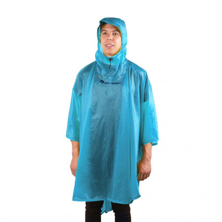 Poncho impermeable de lluvia Sea to Summit ULTRA-SIL NANO PONCHO - azul