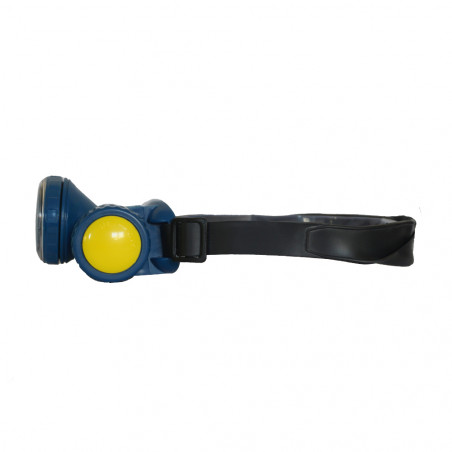 Linterna frontal ORIENTABLE SUMERGIBLE – azul