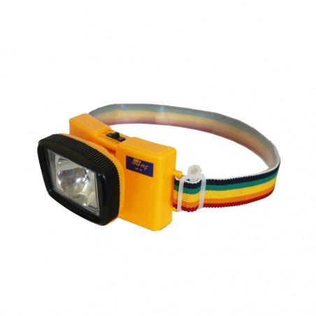 Linterna frontal ORIENTABLE RAINBOW - amarilla