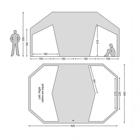 Tienda de campaña Nordisk VANAHEIM 24 m² con suelo - arena