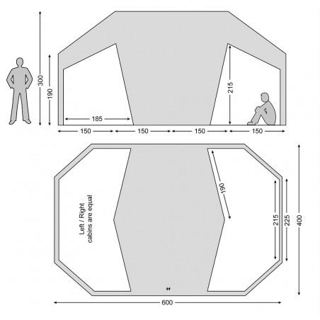 Habitación para la tienda de campaña Nordisk VANAHEIM 24 m² - arena