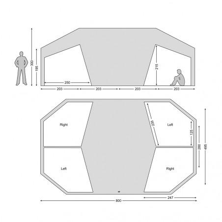 Habitaciones (2) para la tienda de campaña Nordisk VANAHEIM 40 m² - arena