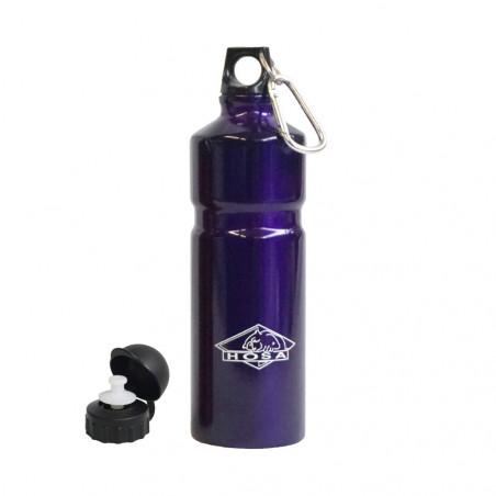 Hosa Aluminio Mosquetón 750 ml lila - Botella cantimplora