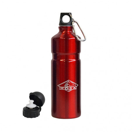 Hosa Aluminio Mosquetón 750 ml roja - Botella cantimplora