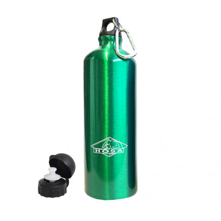 Botella cantimplora HOSA ALUMINIO MOSQUETÓN 1 litro – verde