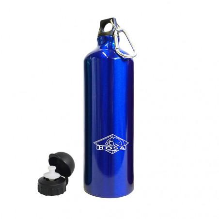 Hosa Aluminio Mosquetón 1 Litro azul - Botella cantimplora