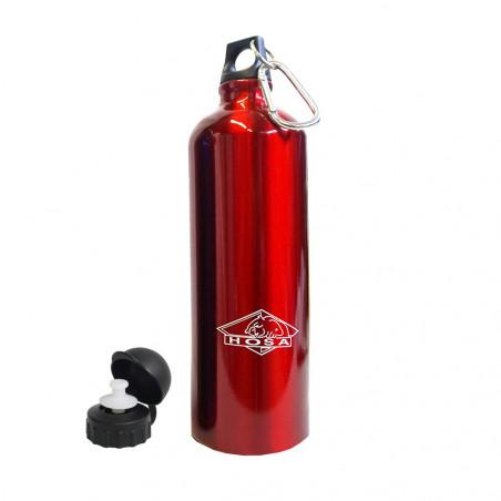 Botella cantimplora HOSA ALUMINIO MOSQUETÓN 1 litro – roja