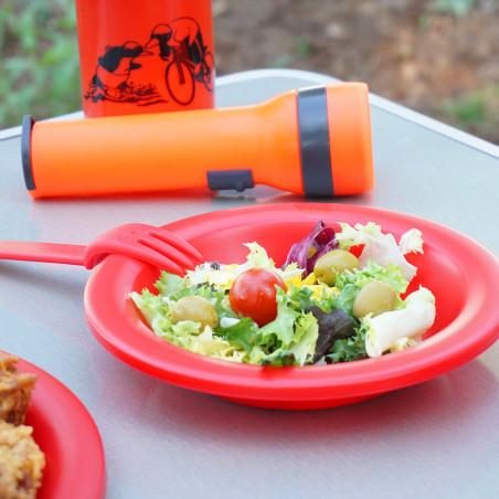 Set cubiertos para niños Camping Sport CUBIERTOS COLONIAS – rojos