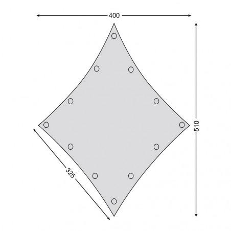 Toldo de lona para glamping Nordisk KARI DIAMOND TARP 10 m² – beige