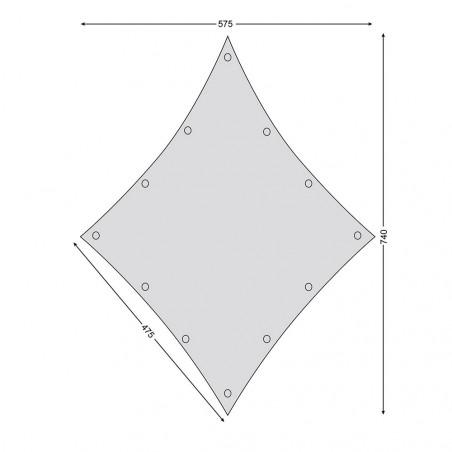 Toldo de lona para glamping Nordisk KARI DIAMOND TARP 20 m² – beige