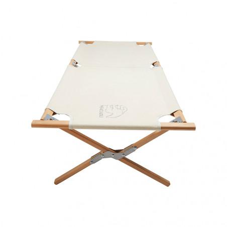 Cama de glamping Nordisk ROLD WOODEN BED – beige