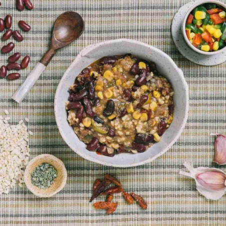 Pouch 350 g Forestia - Madrás de pollo con arroz salvaje