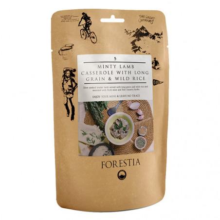 Pouch 350 g Forestia - Cordero a la menta con arroz salvaje