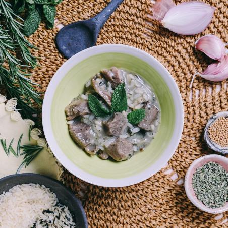Ración autocalentable 350 g Forestia - Cordero a la menta con arroz salvaje