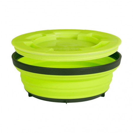 Sea to Summit X-Seal & Go L 600 ml verde lima - Fiambrera plegable