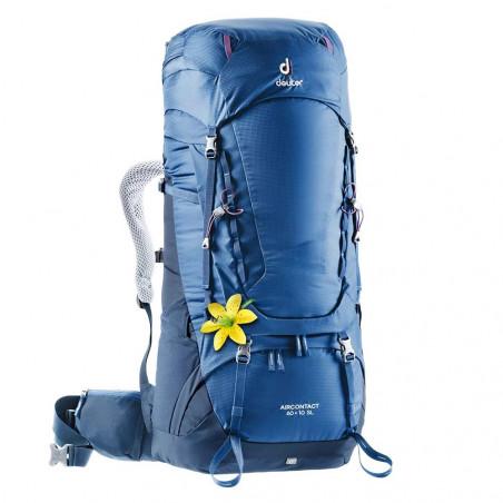 Mochila de trekking Deuter AIRCONTACT 60 + 10 SL - azul steel midnight