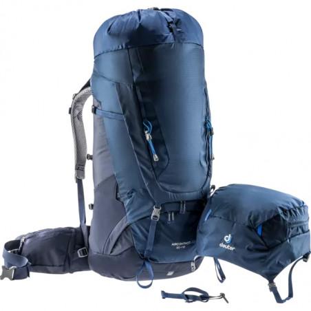 Mochila de trekking Deuter AIRCONTACT 65 + 10 - azul midnight navy