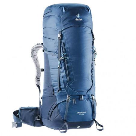 Mochila de trekking Deuter AIRCONTACT 75 + 10 - azul midnight navy