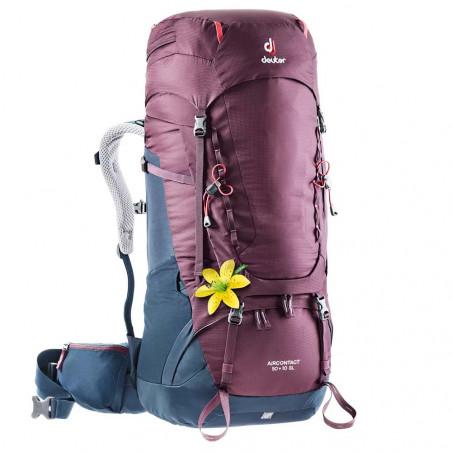 Mochila de trekking Deuter AIRCONTACT 50 + 10 SL - blackberry - navy