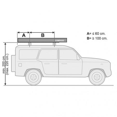 Toldo Fiamma COMPASS para todoterreno y VW T5/T6 – Silver