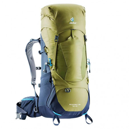 Mochila de trekking Deuter AIRCONTACT LITE 40 + 10 - verde moss-navy