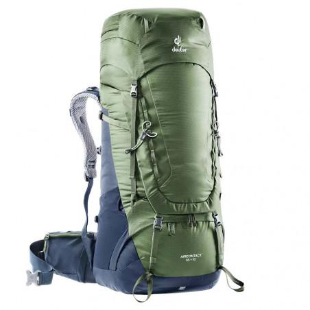 Mochila de trekking Deuter AIRCONTACT 65 + 10 - khaki navy