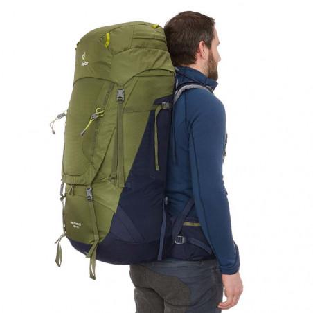 Mochila de trekking Deuter AIRCONTACT 65 + 10 - verde khaki - navy