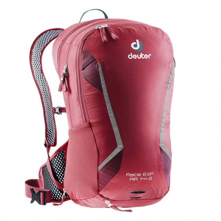 Deuter Race Exp Air 14 + 3 cranberry maron - Mochila de ciclismo