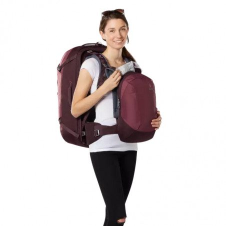 Mochila de viaje mujer Deuter AVIANT ACCESS PRO 55 SL - maron aubergine