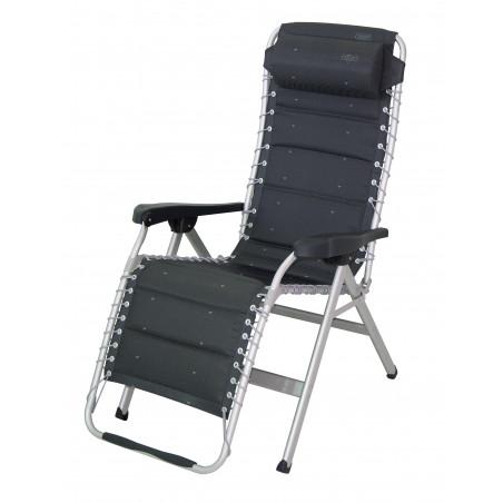 Crespo AL-232-DL gris oscuro - Tumbona reforzada Gran Relax acolchada