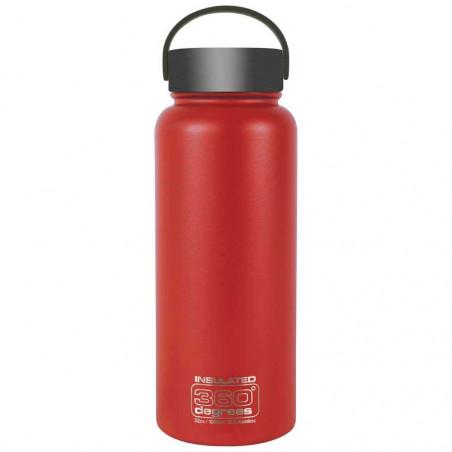360 Degrees Boca Ancha 1 Litro rojo - Botella termo